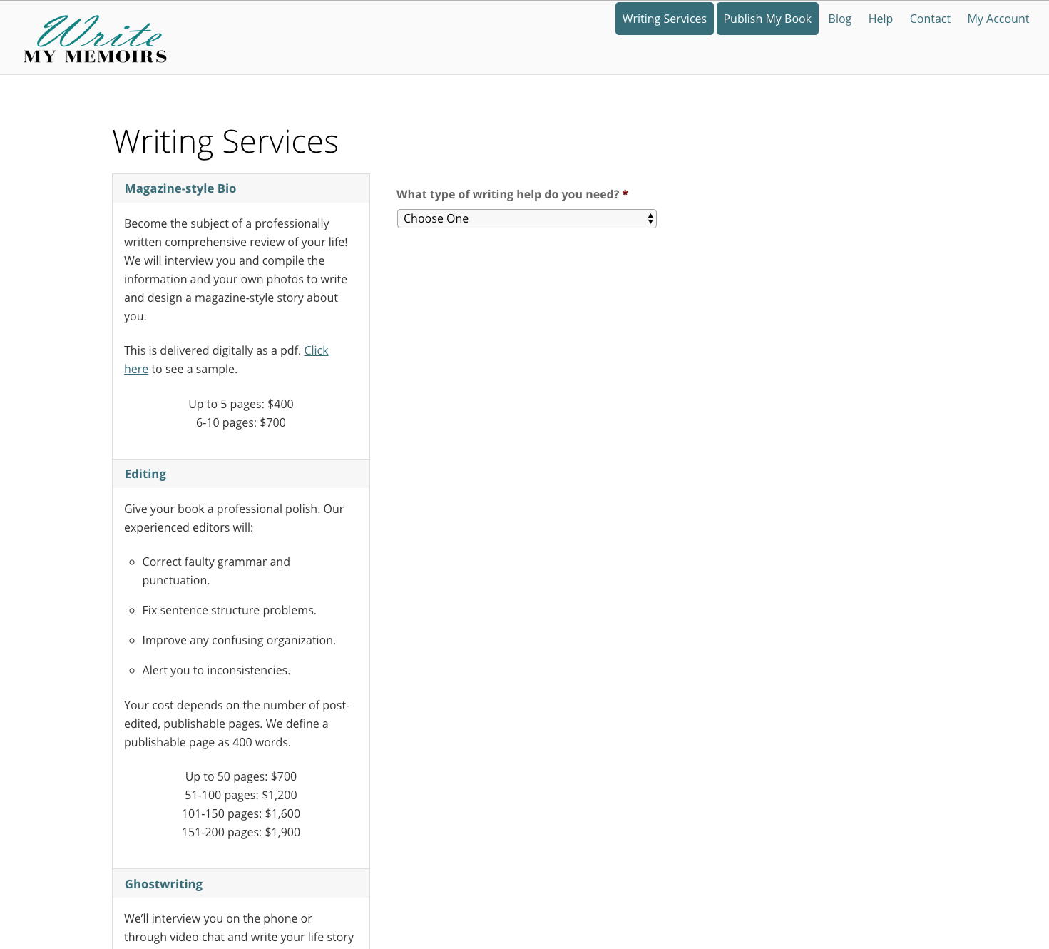 """Fill out the form in our Writing Services section, and one of our professional editors will polish your work for an affordable fee. We're good at retaining your """"author's voice"""" while correcting grammatical errors and alerting you to redundancies, inconsistencies and organizational problems."""