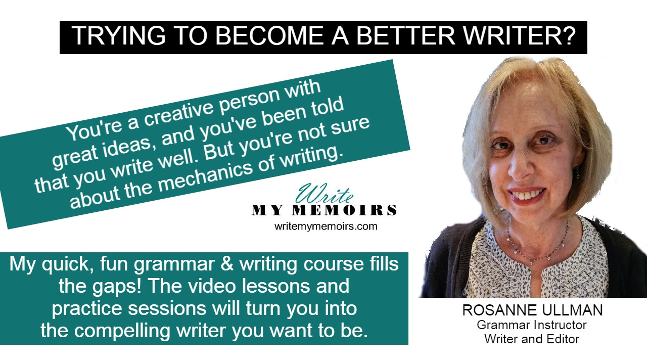 Info on Write My Memoirs Grammar and Writing Course
